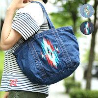 デニムチマヨ刺繍トートバッグ