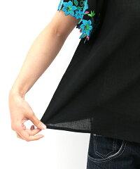 カットワーク刺繍トップス