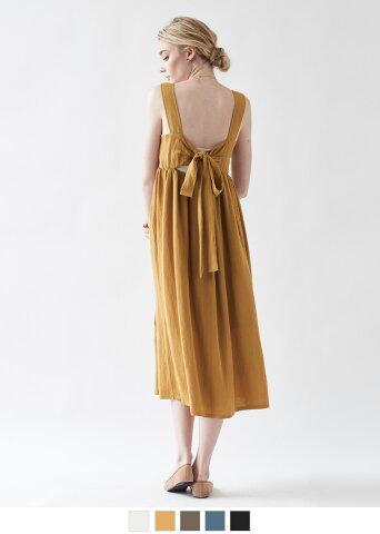 バックリボンジャンパースカート/ワンピース