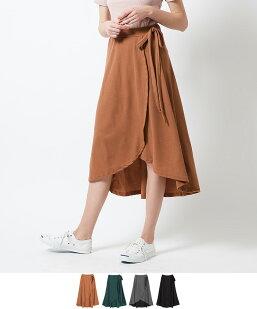 スウェットラップリボンスカート