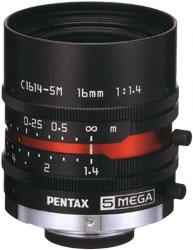 """CCTVレンズ 焦点距離 16mm 2/3""""CマウントPENTAX(ペンタックス)交換レンズCCTV交換レンズCマウ..."""