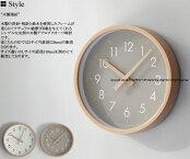 CAMPASキャンパスウォールクロック9190-00089190-0009ホワイトグレージュ曲木プライウッドビーチ材掛け時計掛時計壁掛けスイープムーブメントアナログクオーツ丸型円形シンプル秒針無し時計21cmSサイズ