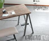 【送料無料】TL-111テーブル脚2脚組ブラックシルバー架台ソーホースDIYワークテーブル脚作業台折り畳み脚メタルレッグスチールテーブル用部品