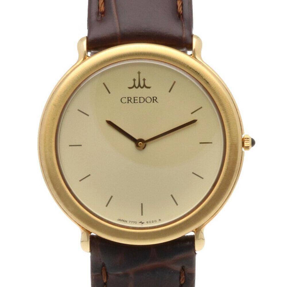 腕時計, メンズ腕時計  CREDOR SEIKO K18YG 18KT 7770-6020 18 K18 SHBIM