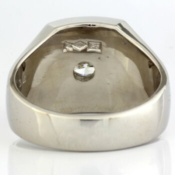 PT900ダイヤメンズリングD0.34プラチナ