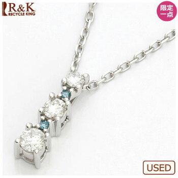 ◎K18WGダイヤモンドネックレスD0.3018金ホワイトゴールド