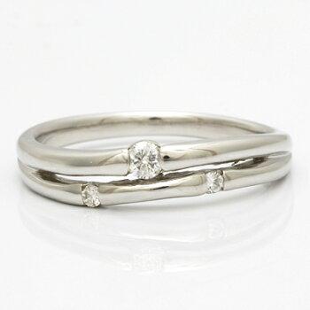 PT900ダイヤモンドリングD0.10プラチナ