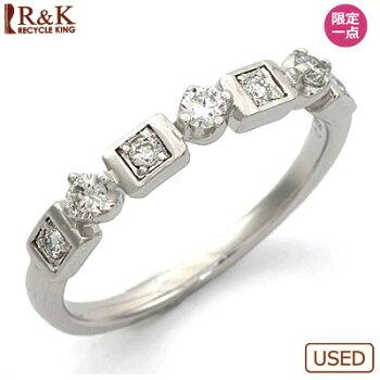 ◎K18WGダイヤモンドリングD0.1318金ホワイトゴールド