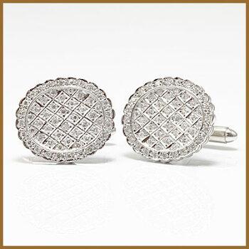 ◎PT900ダイヤモンドカフスD2.36プラチナ