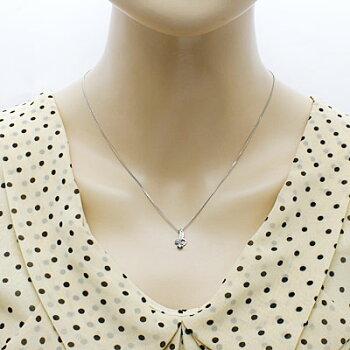 ◎PT850ネックレスダイヤモンドタンザナイトプラチナ