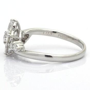 PT900ダイヤモンドリングD1.03フラワープラチナ