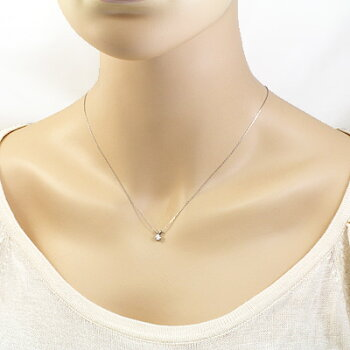 【】◎PT900/PT850ダイヤモンドネックレスD0.201プラチナ