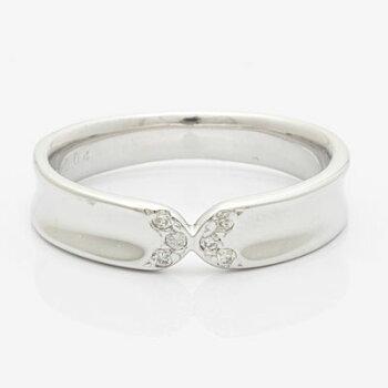 ◎K10WGダイヤモンドリングD0.0410金ホワイトゴールド