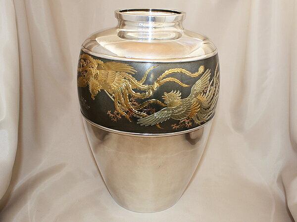 純銀製花瓶