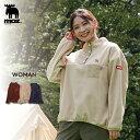 ◆商品のポイント フリース素材のあったかプルオーバーです。ほどよいゆったりサイズと、気になるおしりも隠してくれるバックにボリュームを持たせたシルエットがかわいいです。ハイネックになっているので首元も暖かいです。胸元にエルク刺繍が、袖にはさりげなくロゴが入っています。秋冬の外キャンプや、お出かけに使えるプルオーバーです。メンズとキッズも同素材 同カラーで展開中です。リンクコーデも楽しめます。 ※モデル着用の小物は私物です。 ※注意事項:モニターの発色によって色が異なって見えることがございます。 ◆組成 本体ポリエステル 100%前立て、ポケット部分ナイロン 100%パイピング部分ナイロン 90%ポリウレタン 10% MOZ moz ヘラジカ エルク スウェーデン アウトドア キャンプ ファミキャン キャンプコーデ キャンプファッション カジュアル フリース ボア トップス プルオーバー かわいい かっこいい あったか 防寒 秋 冬 20代 30代 40代 レディース ママ ファミリー 親子 親子コーデ リンクコーデ おそろい ペア