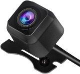 【P5倍】バックカメラ 小型 防水IP68 CCD フロントカメラ リヤカメラ 角型 視野角度150度 正像・鏡像切替機能 ガイドライン有・無し機能 DC12V電源 角型 ナイトビジョン ブラック