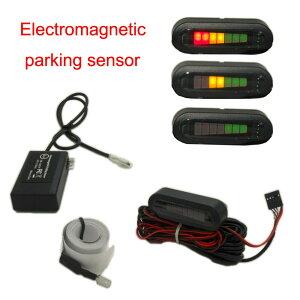 穴あけ不要 電磁【パーキングセンサー】 バックセンサー アラーム&LEDモニター付き 12v 16ヶ月保証 ◇