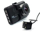 【エントリーP10倍!8月4日20:00~8月9日1:59限定】進化版ドライブレコーダー Wカメラ搭載 IPS液晶 送料無料 お手軽・フルHD 高画質 1080P 120度 Gセンサー 日本語説明書