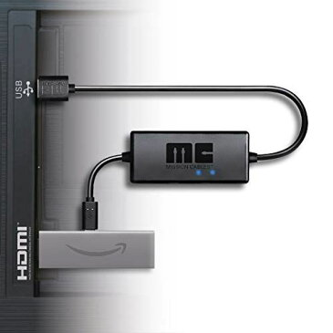 【 Fire TV Stick 4K - Alexa (第4世代)】【Fire TV - 4K HDR (第3世代)】対応 本体なし Mission cables あらゆるテレビ USBポートから AC電源を使用せず利用可能 テレビ TV 配線を美しく 壁掛けテレビ TV マウント アクセサリー