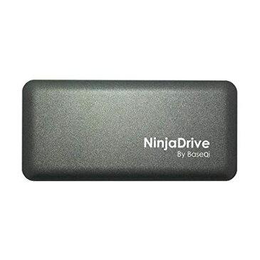 【NinjaDrive】 Thunderbolt3 対応 外付けSSD 最大読込速度 : 2800MB/s 最大書込速度 : 2300MB/s アルミ ボディ ポータブル 外付け SSD/サンダーボルト 3 ケーブル 付 [ Mac OS Sierra/Windows 10 64bit Thunderbolt 3 サンダーボルト3 対応 ] TB3 512GB ガンメタル