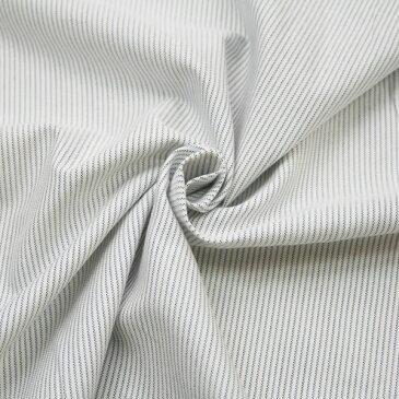 ハンドメイド ブルー×黒×オフ白 綿 オックス 先染 ストライプ 柄 生地 布 国産 広幅 シャツ スカート パンツ ワンピース ジャケット 紳士 婦人 子供 服 小物 雑貨 インテリア 激安 セール (h-1099 )