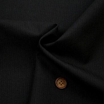 【生地・布 レディース ファッション】 紺 ウール ポリエステル 先染 綾織 ストライプ柄 防縮加工 国産 広幅 パンツ スカート ジャケット 婦人服 紳士服 手芸 小物 雑貨 インテリア 激安セール(h-1201)