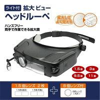 【新品】マクロス MACROS ライト付き拡大ビュー ヘッドルーペ MCZ-24