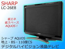 【中古】SHARP シャープ 26V型 地上・BS・110度CS デジタルハイビジョン液晶テレビ AQUOS アクオス ブラック LC-26E8 2011年製