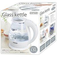 【新品】brピーナッツクラブbrD-STYLISTbrガラス電気ケトルbr1.5LbrKK-0034