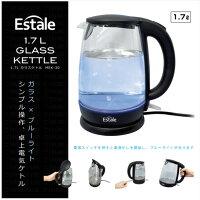 【新品】マクロス 1.7L ガラス電気ケトル MEK-30