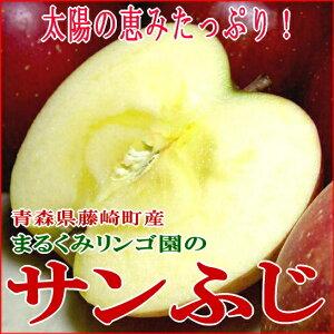 まるくみりんご園の「サンふじりんご」青森県藤崎町 5kg(小玉23個入り)[有機肥料100%・…