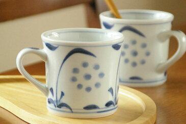 【砥部焼 梅山窯】太陽柄の反マグカップ