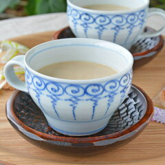 【砥部焼 中田窯】ようらくのスープカップ