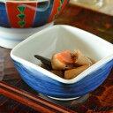 【砥部焼 梅山窯】藍色の四方鉢(3寸)