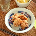【砥部焼梅山窯】ごす赤菊の縁付深皿(5寸)