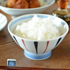 【砥部焼岡田陶房】青赤線の茶碗(大)