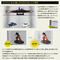 コレクションケースフィギュアラックワイドLED引き戸タイプ奥行39cmハイタイプJAJAN