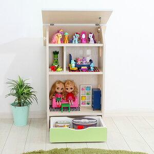 ドールハウスシェルフかわいいおままごと木製棚ラック絵本収納おもちゃ収納完成品子どもキッズ安心安全国産日本製