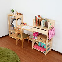 北欧天然木キッズブックラックnicoパイン材のブックラック本棚