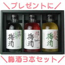 NUB−16中野BC 紀州梅酒ギフト3本セット  化粧箱入り...