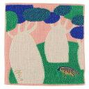 【メール便OK】【morita Miw(森田MiW)】ガーゼパイルハンカチ「ハイエナと不思議な樹」