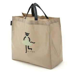 【メール便OK】【楽天限定10%OFF】【La Merise マタノアツコ(ATSUKO MATANO)】プリントバッグ「ねこ」