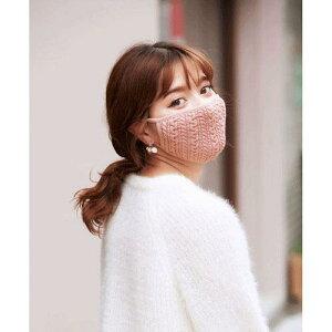 【メール便OK】内側オーガニックコットン使用 冬用マスク「HOT HOT (ダスティーピンク)」
