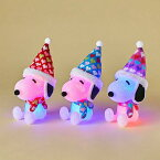 【クリスマス雑貨】【Xmas】LEDスヌーピー(SNOOPY)「ハート」3種セット