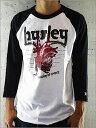 1枚で決まる!【ハーレー】7分袖TEEシャツ!【HURLEY】MEN'S TEEシャツ《WHITE》