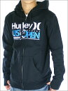 ��HURLEY�ۥϡ��졼USOPEN�ե륹�ݥ󥵡���ǰ���ꥢ���ƥ�USOPEN��BLACK��MEN'SZIPHOOD(�ѡ�����)