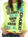 2010春新作!【RealBvoice】定番系カッコイイロゴ+ワッペン!ロングスリーブTEEシャツ2010春新作!【Real Bvoice】リアルビーボイスレディース ロンTシャツ(WOMEN'S 長袖 TEE)