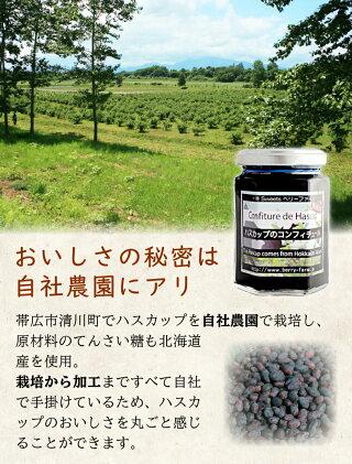 北海道土産ハスカップジャムハスカップコンフィチュール「ハスカップコンフィチュール170g」ギフト内祝い御祝引出物