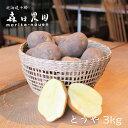 【越冬 とうや】北海道十勝[森田農園]産3kg/じゃがいも/送料無料/2020年収穫