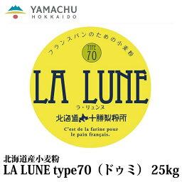 【送料無料】LA LUNE(ラ・リュンヌ)Type70(ドゥミ)【25kg】業務用/小麦粉/準強力粉/北海道産/ハード系/パン